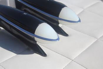 """Chevy Fender Park Lights Dietz 7"""" Headlight Buckets Peep Mirrors Bumper Guard"""