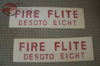 55 56 57 Desoto Fire Flite Desoto Eight Valve Cover Decals Pair