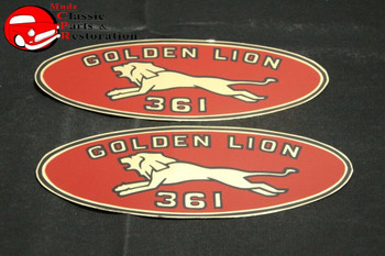 61 62 Dodge Chrysler Plymouth Golden Lion 361 Valve Cover Decals Pair