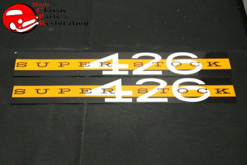 63-64 Super Stock 426 Valve Cover Decals - Set Of Two