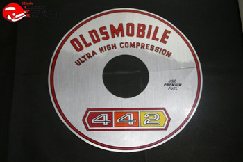65 66 67 Oldsmobile 442 Air Cleaner Decal Silver