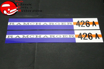 63 64 Dodge Ramcharger 426 A Valve Cover Decals Pair Free Shipping!