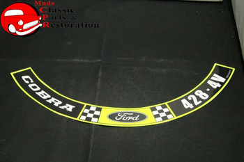 70-71 Ford Mustang 428-4V Cobra Jet Air Cleaner Decal Ford Part # Dozf-9C611-F