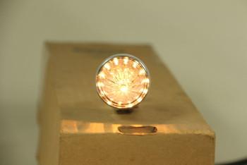Custom Chrome Mini Clear Lens Bullet Marker Accent Light W Visor Hot Rat Rod New