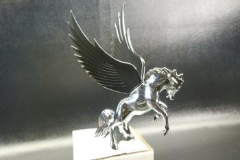 Flying Stallion 40'S 50'S Hood Ornament Custom Hot Rod Truck Black Wings