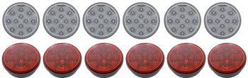 """4"""" Led Utility Light 12 Piece Set 6 Red And 6 White"""
