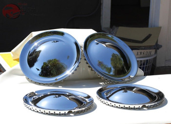 "Baby Moon 14"" Hollywood Style Hub Cap Wheel Cover Hot Rat Rod Lead Sled Set Of 4"