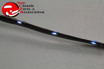 "12 Led 10 3/4"" Flex Strip Lights Custom Car Truck Hot Rod Clearance Accent Blue"