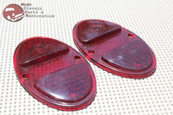 1931 1932 Chevy Rear Taillight Tail Light Lamp Lenses Set Of 2 New