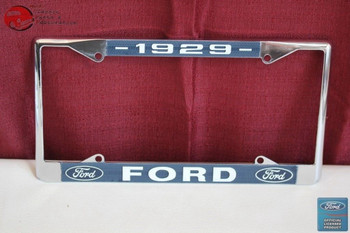 1929 Ford Car Pick Up Truck Front Rear License Plate Holder Chrome Frame New