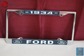 1934 Ford Car Pick Up Truck Front Rear License Plate Holder Chrome Frame New