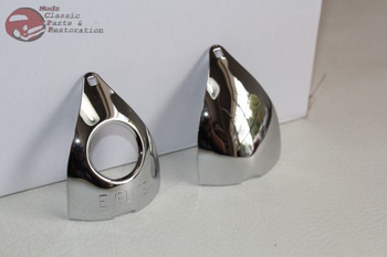 33-35 Chevy Tail Lamp Light Top Chrome Cover Rim License Bulb Rubber Grommet Set