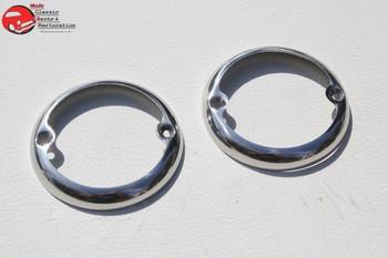 33-36 Ford Car 46-52 Pickup Truck Tail Light Lamp Lens Rims Bezels Trim Rings