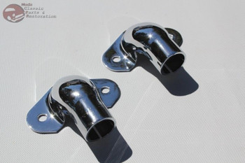 41-53 Chevy Gmc Stepside Pickup Truck Rear Tail Gate Tailgate Hinges Pair Chrome