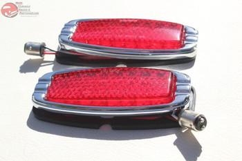 41-48 Chevy Flush Fit Flat Body Mount Led Tail Lights Custom Truck Hot Rat Rod