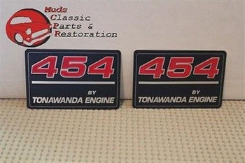 454 By Tonawanda Valve Cover Decals New Chevy Gm Truck Camaro Impala Nova Pair