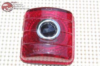 51 52 Chevy Passenger Car Rear Blue Dot Tail Light Lamp Brake Stop Lens New