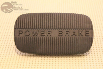 58-65 Chevy Impala 58-63 Corvette 62-67 Nova Power Brake Rubber Pedal Pad New