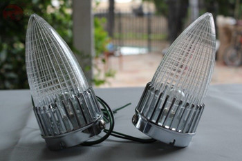 59 Cadillac Bullet Tail Lamp Lights Clear Lens Pair Custom Truck Hot Rat Rod