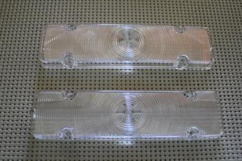 61 Chevy Impala Biscayne Bel Air Park Light Lamp Lenses Front Bumper Pair
