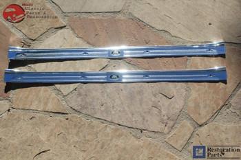 67-69 Camaro Firebird Door Opening Sill Scuff Step Plates Body By Fisher Pair