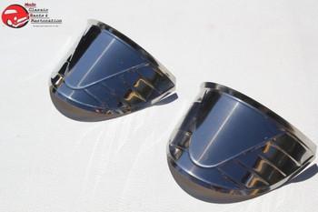 "7"" Round Headlight Lamp Visors Stamped Pattern Custom Truck Hot Rat Street Rod"