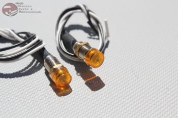 Amber Dash Led Indicator Lights Hot Rat Rod Custom Car Truck Boat Instrument New