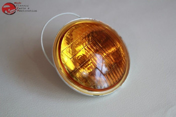 Amber Fog Lamp Light Replacement Bulb Vintage Style 12 Volt Hot Rat Rod Truck