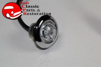 Amber Mini Led Clear Lens Clearance Marker Light Stainless Truck Hot Rat Rod