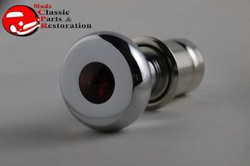 Casco Deluxe Chrome Cigarette Lighter Knob Element Red Diamond Top Accent Dash