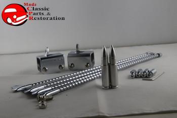 Cat Whisker Custom Curb Feelers Chrome Long Bullet Ends Truck Hot Rat Street Rod