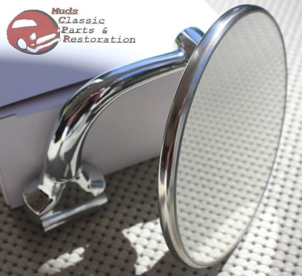 Curved Arm Rearview Outside Side Door Rearview Peep Mirror Classic Antique Car