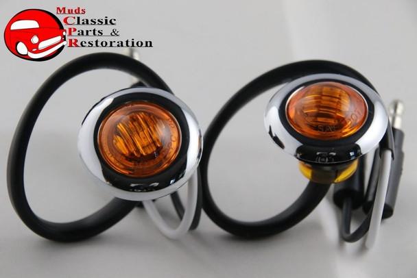 Custom Mini Amber Led 0Ccent Clearance Marker Lights Truck Hot Rat Street Rod