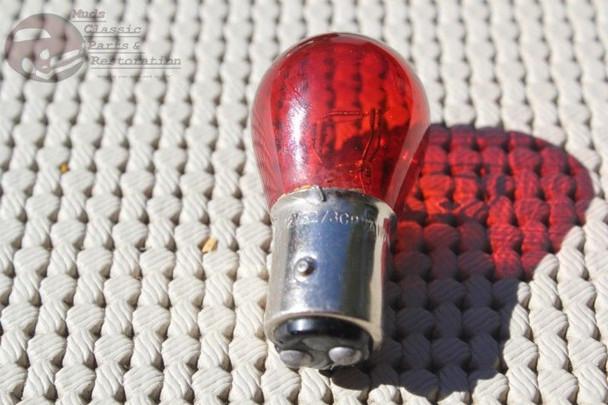 Dual Filament Red Glass Park Turn Brake Direction Tail Light Lamp 1157 Bulbs Rod