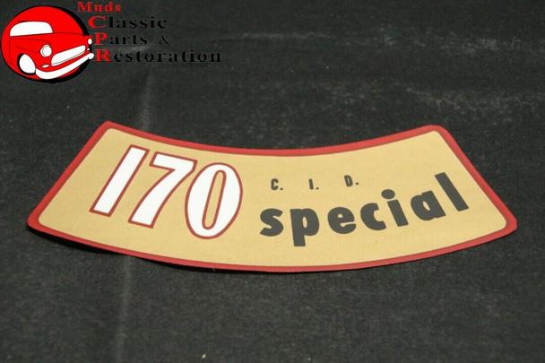 61-66 Ford Falcon Ranchero 170 Cid Special Air Cleaner Decal Part # C1De-9638-A