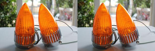 Custom Amber Tail Light Turn Signal 4 Lamp Assemblies Hot Rat Rod Pickup Truck New