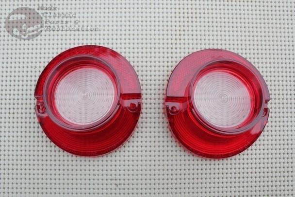 64 Chevy Impala Rear Tail Backup Light Lamp Lenses Pair Set Of 2 Lenses New