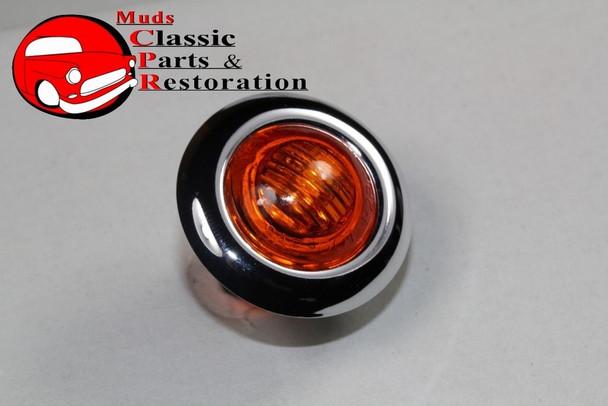 Amber Mini Led Clearance Marker Light Stainless Custom Truck Hot Rat Street Rod