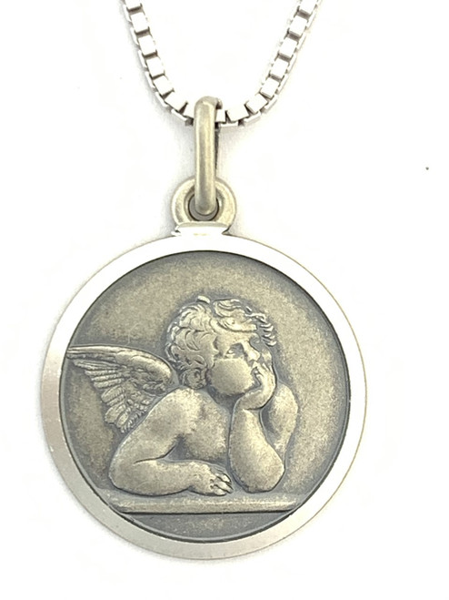 Close up of the Guardian Angel Pendant.