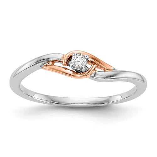 Rose / White Gold Promise Ring