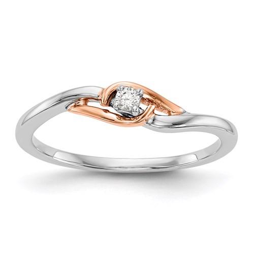 Rose / White Gold Promise Ring