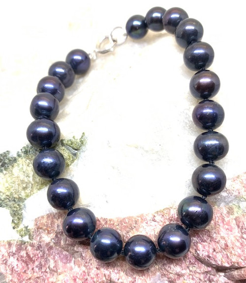 Black Pearl Bracelet 7.5mm