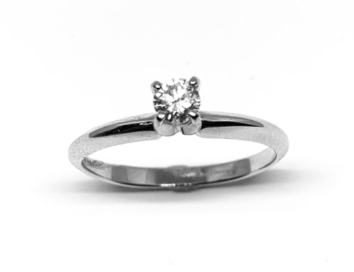 1/5 Carat White Gold Diamond Solitaire Engagement Ring