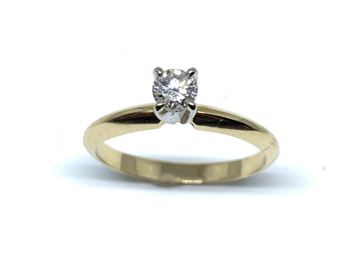 1/5 Carat Yellow Gold Diamond Solitaire Engagement Ring