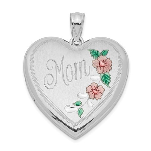 Mother's Locket in Sterling Silver