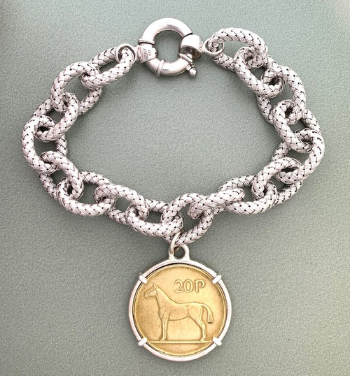 Irish Horse Coin Bracelet