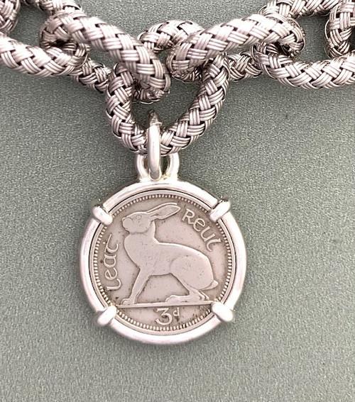 Irish Bunny Coin Bracelet