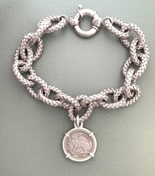 Irish Bunny Coin Bracelet