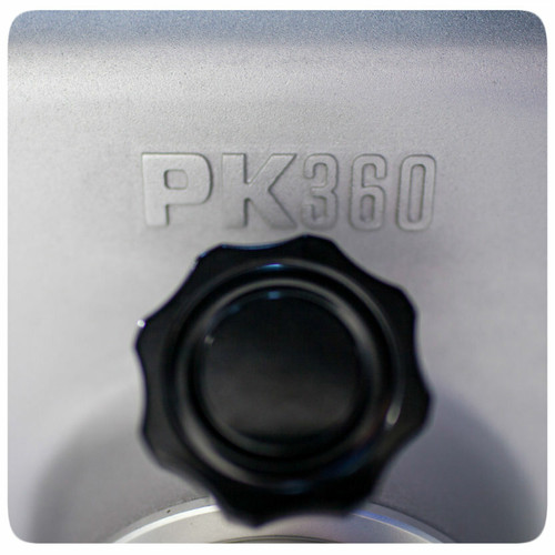 The all new PK360 Grill & Smoker can be removed from it's base for easy portability with a simple twist.
