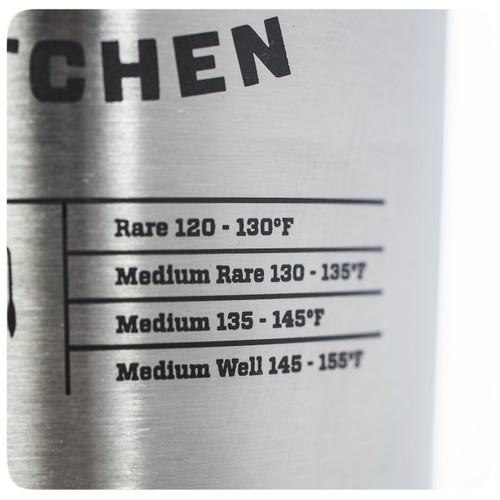The PK Grills branded YETI Rambler Tumbler in stainless steel.